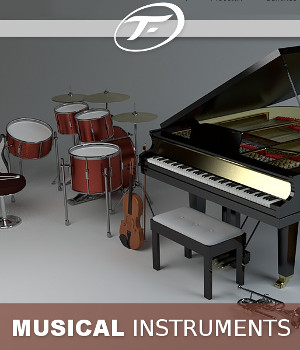 Musical Instruments 3D Models TruForm