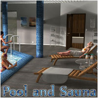 Pool and Sauna by 3-D-C 3D Figure Assets 3D Models 3-d-c