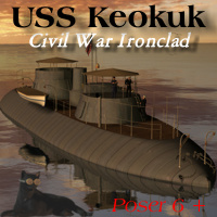 Ironclad USS Keokuk 3D Models Michael_C