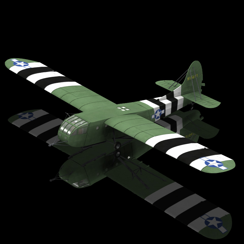 US Assault Glider CG 4A Hadrian (for Poser)