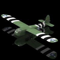 US Assault Glider CG 4A Hadrian (for Poser) 3D Models Digimation_ModelBank