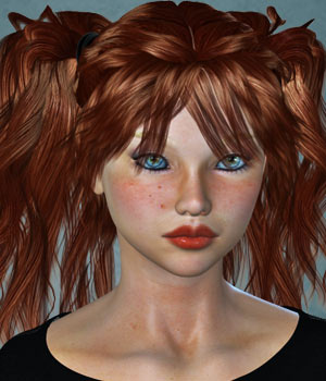 Ally Hair for V4 3D Figure Assets SWAM