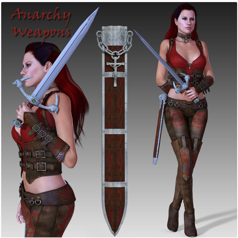 Anarchy Fantasy Weapons (Poser, OBJ & 3DS)