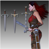 Anarchy Fantasy Weapons (Poser, OBJ & 3DS) image 1