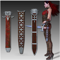 Anarchy Fantasy Weapons (Poser, OBJ & 3DS) image 2