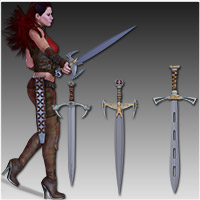 Anarchy Fantasy Weapons (Poser, OBJ & 3DS) image 3