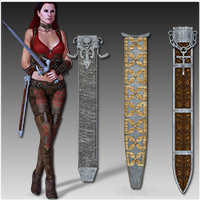 Anarchy Fantasy Weapons (Poser, OBJ & 3DS) image 4