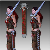 Anarchy Fantasy Weapons (Poser, OBJ & 3DS) image 5