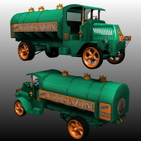 MACK AC 1926 Tank Truck 3D Figure Essentials 3D Models Nationale7