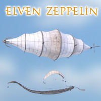 Elven Zeppelin Themed Transportation 1971s