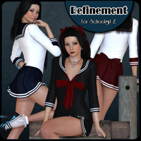 Refinement - Schoolgirl2 by Freja