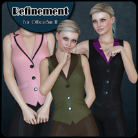 Refinement - Office Suit 3 3D Figure Assets Freja
