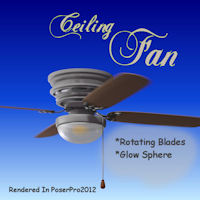 Ceiling Fan 3D Models pappy411