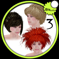 Biscuits Hair Trio NO3 3D Figure Essentials Biscuits