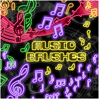 Brushes - Music 2D Graphics Atenais