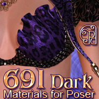 Pd-Dark Poser Materials 3D Figure Assets 2D Graphics parrotdolphin