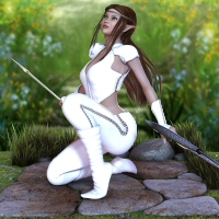 V4 Elf Girl 3D Figure Essentials 3DTubeMagic