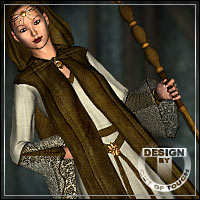 ELVEN WITCH for Elven Dress for Genesis 3D Figure Essentials 3D Models outoftouch