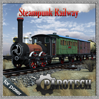 Steampunk Railway Themed Transportation petipet