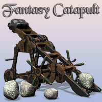 Fantasy Catapult 3D Models Simon-3D