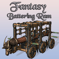 Fantasy Battering Ram Props/Scenes/Architecture Themed Simon-3D