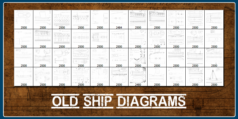 Old Ship Diagrams