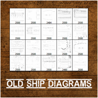 Old Ship Diagrams 2D Atenais