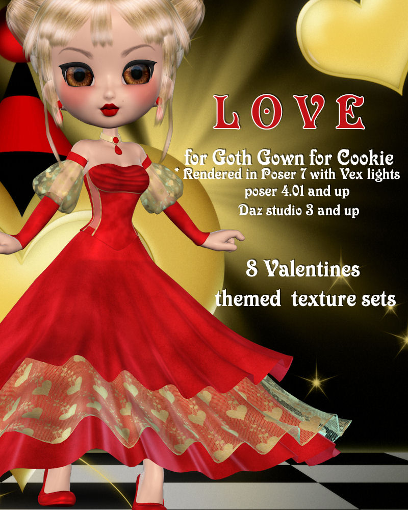 Love for Goth Gown for Cookie