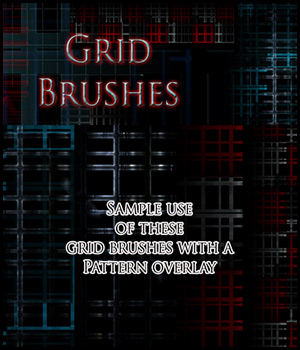 Grid Brushes 2D 3D Models antje