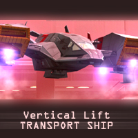 Vertical Lift Transport Ship Themed Transportation Props/Scenes/Architecture shawnaloroc