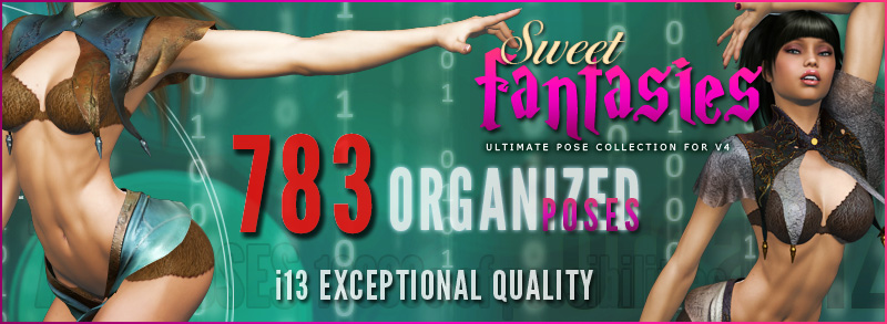 i13 Sweet Fantasies pose collection for V4 by ironman13