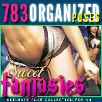 i13 Sweet Fantasies pose collection for V4 3D Figure Assets ironman13