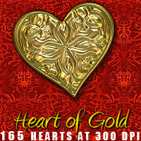Heart of Gold 3D Models 2D designfera
