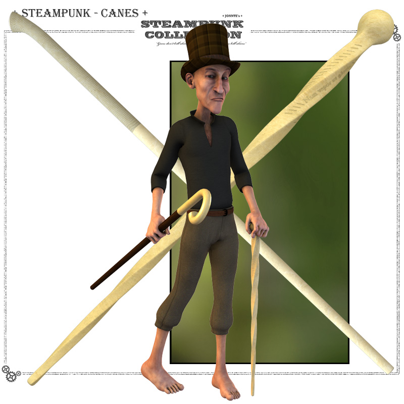 SteamPunk - Walking Sticks