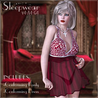 V4 Sleepwear 3D Figure Essentials teknology3d