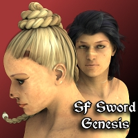 SF Sword for Genesis 3D Figure Essentials SickleYield