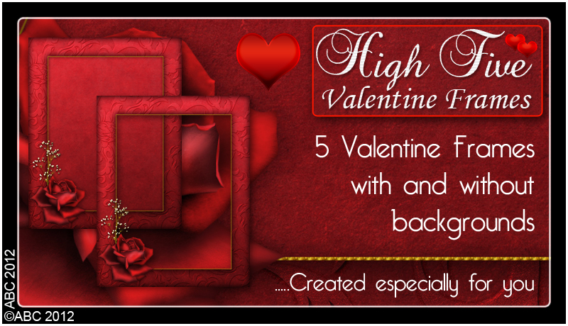 High Five Valentine Frames