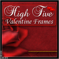 High Five Valentine Frames Themed 2D And/Or Merchant Resources Bez
