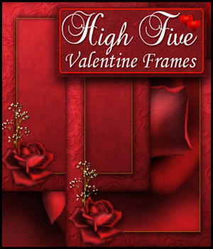 High Five Valentine Frames 3D Models 2D Bez