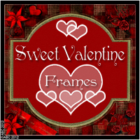 Sweet Valentine Frames Themed 2D And/Or Merchant Resources Bez