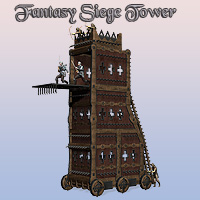 Fantasy Siege Tower 3D Models Simon-3D