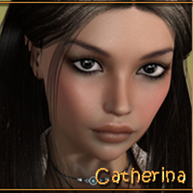 PD Catherina 3D Figure Assets P3Design
