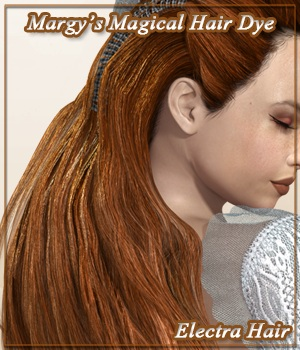 Margy's Magical Hair Dye for Electra Hair 3D Figure Assets MargyThunderstorm