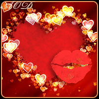 Valentine Hearts and Kisses 3D Models 2D Graphics ArtOfDreams