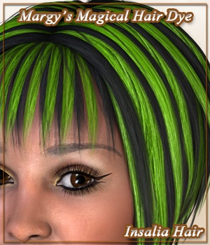 Margy's Magical Hair Dye for Insalia Hair 3D Figure Assets MargyThunderstorm