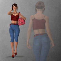 Walking Alyson 3D Figure Essentials wenke