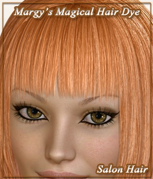 Margy's Magical Hair Dye for Salon Hair 3D Figure Assets MargyThunderstorm