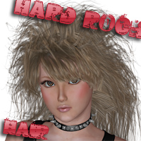 SM_Hard Rock Hair 3D Figure Essentials MayaX