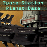 Space Station Planet Base Transportation Themed Props/Scenes/Architecture shawnaloroc