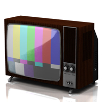 Television Set 1970 (for Poser) 3D Models Digimation_ModelBank
